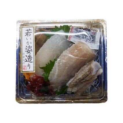 するめいか姿造り(肝醤油入)(生食用・解凍)
