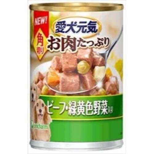 愛犬元気缶 角切りビーフ&緑黄色野菜入り ユニ・チャーム