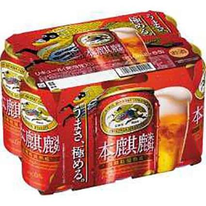 本麒麟 6缶 キリンビール